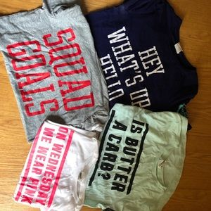 Victoria's Secret pink graphic tees